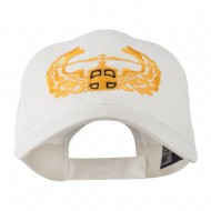Air Assault Air Force Badge Outline Embroidered Cap - White