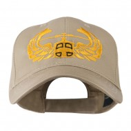 Air Assault Air Force Badge Outline Embroidered Cap - Khaki