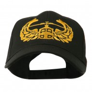 Air Assault Air Force Badge Outline Embroidered Cap - Black