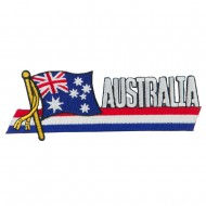 Asia Flag Cutout Embroidered Patches - Australia