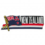 Asia Flag Cutout Embroidered Patches - New Zealand