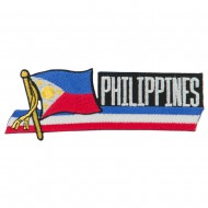 Asia Flag Cutout Embroidered Patches - Philippines