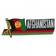 Asia Flag Cutout Embroidered Patches - Afghanistan