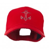 Anchor Logo Embroidered Cap - Red