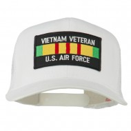 US Air Force Vietnam Veteran Patched Mesh Cap - White