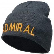 Admiral Embroidered Short Beanie - Dk Grey