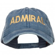 Admiral Embroidered Washed Buckle Cap - Navy