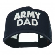 Army Dad Embroidered Cotton Twill Mesh Cap - Navy