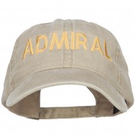 Admiral Embroidered Washed Buckle Cap - Khaki
