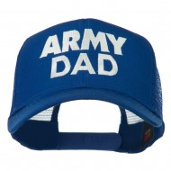 Army Dad Embroidered Cotton Twill Mesh Cap - Royal
