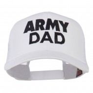 Army Dad Embroidered Cotton Twill Mesh Cap - White