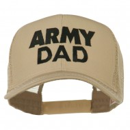 Army Dad Embroidered Cotton Twill Mesh Cap - Khaki