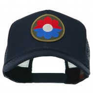 US Army 9th Infantry Division Patched Mesh Back Cap - Navy