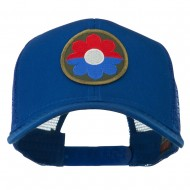US Army 9th Infantry Division Patched Mesh Back Cap - Royal