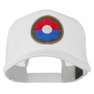 US Army 9th Infantry Division Patched Mesh Back Cap - White