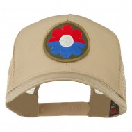 US Army 9th Infantry Division Patched Mesh Back Cap - Khaki