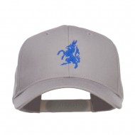 Antelope Emblem Embroidered Low Profile Cap - Grey