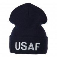 Air Force Embroidered Knit Military Beanie - USAF
