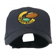 American Football Field and Ball Embroidered Cap - Navy