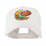 American Football Field and Ball Embroidered Cap - White