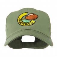 American Football Field and Ball Embroidered Cap - Olive