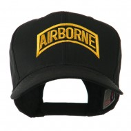 Air Force Unit of Airborne Embroidered Cap - Black