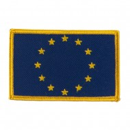 Asia Flag Embroidered Patches - European