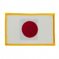 Asia Flag Embroidered Patches - Japan