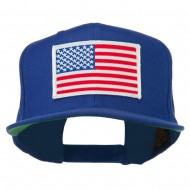 White American Flag Wool Blend Prostyle Patched Cap - Royal