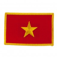 Asia Flag Embroidered Patches - Vietnam