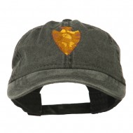 Arrowhead Embroidered Washed Cap - Black