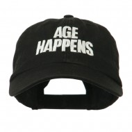Age Happens Embroidered Cap - Black