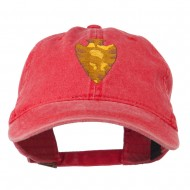Arrowhead Embroidered Washed Cap - Red