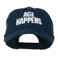 Age Happens Embroidered Cap - Navy