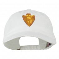 Arrowhead Embroidered Washed Cap - White