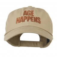 Age Happens Embroidered Cap - Khaki