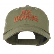 Age Happens Embroidered Cap - Olive