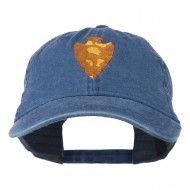 Arrowhead Embroidered Washed Cap - Navy