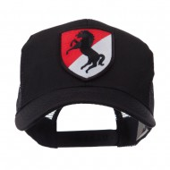 US Army Shield Military Patched Mesh Cap - 11th