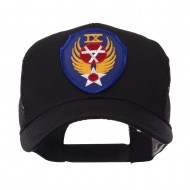 US Army Shield Military Patched Mesh Cap - 9th