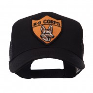 US Army Shield Military Patched Mesh Cap - k9