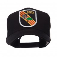 US Army Shield Military Patched Mesh Cap - Delta