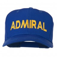 Admiral Embroidered Cotton Twill Cap - Royal