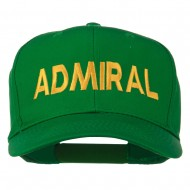 Admiral Embroidered Cotton Twill Cap - Kelly