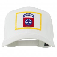 82nd Air Borne Patched Cap - White