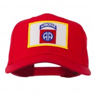 82nd Air Borne Patched Cap - Red