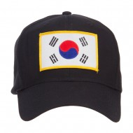 Asia Flag Embroidered Patch Cap - Korea