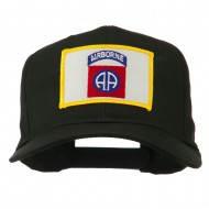82nd Air Borne Patched Cap - Black