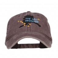 Alaska Last Frontier State Embroidered Cap - Brown
