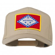 Middle State Arkansas Embroidered Patch Cap - Khaki